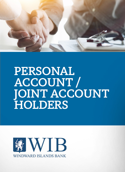 Personal account - Joint Account Holders application form