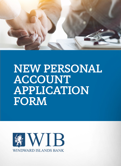 New Personal account application form